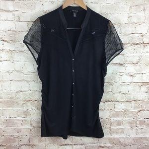 White House Black Market Short Sleeve Top XL